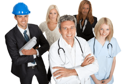 workers covered with professional liability and errors and ommissions insurance